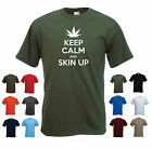 'Keep Calm and Skin Up' Funny men's Weed Pot Green Skunk T-shirt