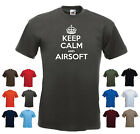 'Keep Calm and Airsoft' Paintball Combat Funny Birthday Gift T-shirt