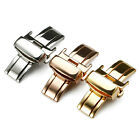 Fashion Stainless Steel Butterfly Deployment Watch Band Push Button Buckle Clasp