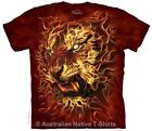Fire Tiger Adults T-Shirt by The Mountain T-Shirts 2016 Range! - Free Post!