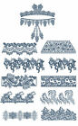 "ABC Designs Lucera Borders Machine Embroidery Designs SET 5""x7"" Hoop 12 Designs"