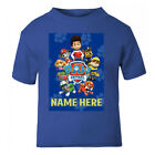 Paw Patrol Style Personalised T-Shirt Age Size Top Kids Ryder cute Gift Idea New