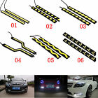 2x Super Bright COB White Car LED Daytime Light For DRL Driving Lamp Waterproof