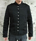 Military Parade Jacket Tunic Rock Black Braiding New Gothic Steampunk Army Coat