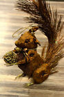 Squirrel Fabric Polyester Figurine Brown or Silver Christmas Home Decoration