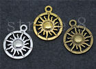 10/50/260pcs Antique Silver Beautiful circular sun Jewelry Charm Pendant 20x16mm