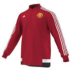 adidas Manchester United LU Jacket 2015 - 2016 Soccer New Red / White