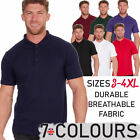 ANVIL Mens Womens Ladies Polo T-Shirt Short Sleeve Cotton Rich Sizes S To XXXXL