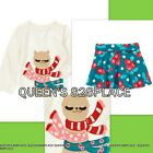 Nwt Crazy 8 girls blue red llama top t-shirt flower skirt size 3 3T outfit new