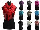 LOT OF NEW WOMEN FASHION WINTER WARM TASSEL NECK KNIT CABLE INFINITY COWL SCARF