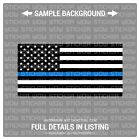 Decal Sticker - Flag American BLACK WHITE (2) 4x2 - Police Thin Blue Line