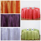 "6 117"" Round Crinkle Taffeta Wedding Party Unique Tablecloth Supplies Wholesale"