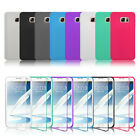 Flip Crystal Clear Soft TPU Silicone Case Cover For Samsung Galaxy Note 4 Note 5