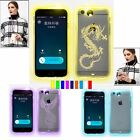 LED Flash Lighting 9 Colors Variable Case For iPhone 5s 6 6S $ Plus With Lanyard
