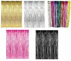 Party Supply Metallic Foil Fringe Curtain Decorations Chr...