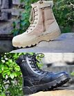 Cow Leather Men Boots Waterproof Ankle Snow Lace Up Desert Combat Military Shoes