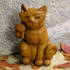 Cast Stone Cement  Cat with Mask Outdoor Garden Statue