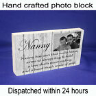 Nan Nanny Granny Quote & Photo Gift Shabby Chic Home Plaque Unique Gift