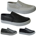 LADIES WOMENS GIRLS SKATER PUMPS CROC FASHION PLIMSOLLS TRAINERS FLAT SHOES
