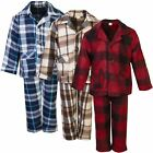 Kids Fleece Pyjama Set Boys Girls Button Front Shirt Pants Nightwear 1-14 Years