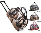 Ladies Fashion Holdall Trolley Weekend Bag Girl Dog Hand Luggage Travel Handbag