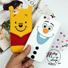 Cute 3D cartoon winnie Frozen Olaf Silicone soft case cover for iphone 6 6S plus