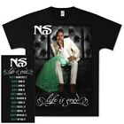 NAS Life Is Good Album Cover T-Shirt Mens Black 2XL Artist Concert Tee Street image