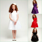 Adorable White Purple Ivory Black Red graduation flower girl evening party dress