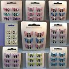 6pc Brightly coloured Metal Mini Butterfly Clamps Clips Girls Hair Accessories