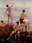Lovers of the Sun (classic English seaside  art print)