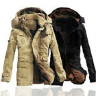 Mens Winter Hooded Fleece cotton Thick Coats Quilted Jackets Outwears M-5XL hot