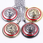 The Avengers Iron Man Sign Necklace 4 Colors Pendant Collection
