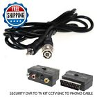 SECURITY DVR TO TV KIT CCTV BNC TO PHONO CABLE, SCART ADAPTER, BNC COUPLER