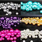 76 Pearl Vase Fillers Balls Clear Pink Gems Gold Decorative Wedding Table Decor
