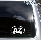 Arizona AZ Initials Circle Vinyl Decal - fits cars, laptops,