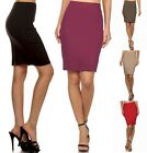 Ponte Sexy Straight High Waisted Slim Stretch Dressy Work Career Pencil SKIRT