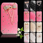 Luxury Leather Magnetic Flip Stand Bling Wallet Cover Case Various Phone Model