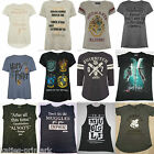 PRIMARK LADIES HARRY POTTER HOGWARTS QUOTE T SHIRT TEE SHIRT TOP 6 - 20 NEW