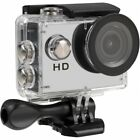 Tec+ HD 720P Waterproof Action Camera with Screen and Accessories White