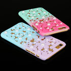 Flowers Gradient Pearls Phone Case PC Hard Case Cover for iPhone 5s 6 6s Plus