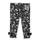 Disney Baby Girls Black & White Minnie Mouse Printed Text Talk Legging with Ankl