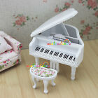 Piano Pianoforte Toy Model for Barbie BJD Doll 1:12 Scale Dollhouse Miniatures