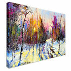Abstract Coloured Forest Canvas wall Art prints high quality great value 40x20