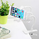 Flexible Long Arms Lazy Stand Clip Holder For Mobile Phone Desktop Bed Car White