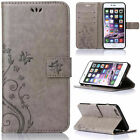Retro Leather Wallet Butterfly Stand Case Cover For iPhone 8/7 Plus 5/ 6s/6 Plus