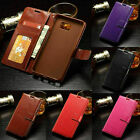 Magnetic Leather Flip Card Slot Stand Wallet Case Cover For