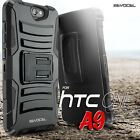 HTC One A9 Case, Rugged Holster Case w/ Kickstand, Belt Clip, and Screen Film