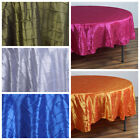 "6 pcs 90"" Round TAFFETA Pintuck Fancy TABLECLOTHS Wedding Party Table Linens"