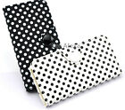 Polka Dot Wallet ID Card Flip Leather Pouch Cover Case for Apple iPhone 5 5S