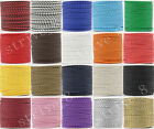 5/20/100Meter Artificial Leather Braid Rope Hemp Cord For Necklace Craft 4mm Hot